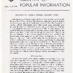 Bulletin of Popular Information V. 27 Index