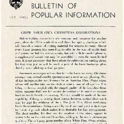 Bulletin of Popular Information V. 24 No. 10