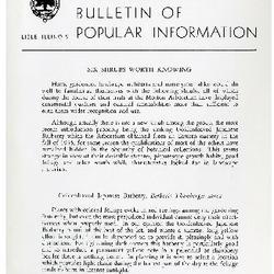 Bulletin of Popular Information V. 31 No. 01