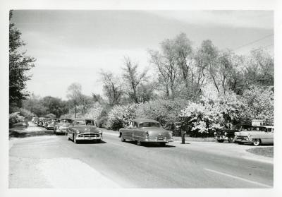 Traffic at intersection of Oakwood Drive and Route 53 looking north