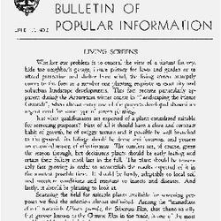 Bulletin of Popular Information V. 26 Index