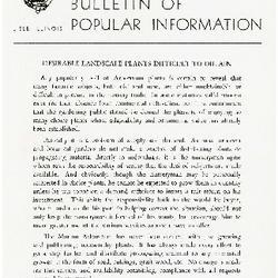 Bulletin of Popular Information V. 29 No. 10