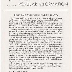 Bulletin of Popular Information V. 25 Index