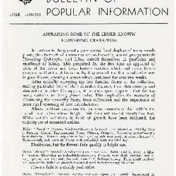 Bulletin of Popular Information V. 29 Index