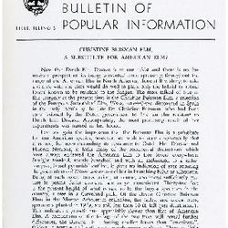 Bulletin of Popular Information V. 33 No. 01