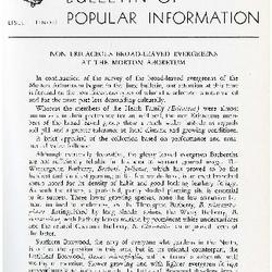 Bulletin of Popular Information V. 34 Index