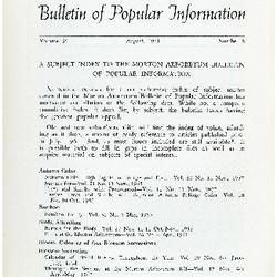 Bulletin of Popular Information V. 39 No. 05