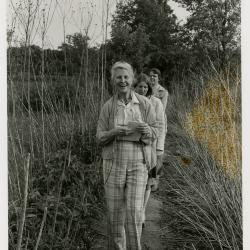Walking in Wolf Road Praire - (Front to back): Alma Green, Nancy Hart, Carol Doty