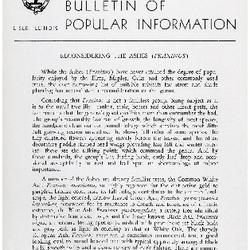 Bulletin of Popular Information V. 32 Index
