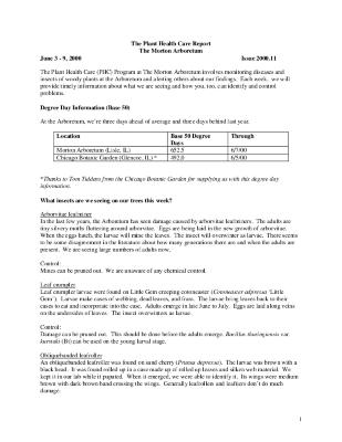 Plant Health Care Report: Issue 2000.11
