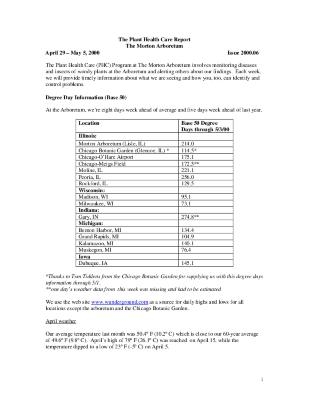 Plant Health Care Report: Issue 2000.06