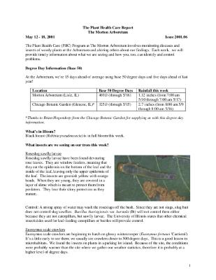 Plant Health Care Report: Issue 2001.06