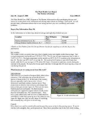 Plant Health Care Report: Issue 2000.18