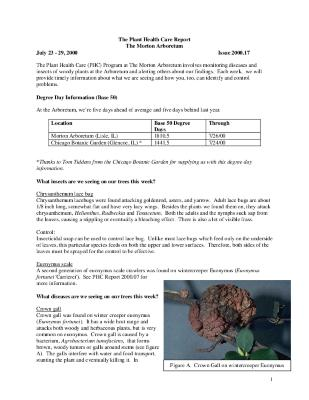 Plant Health Care Report: Issue 2000.17