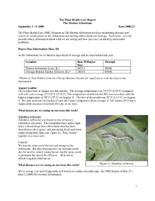 Plant Health Care Report: Issue 2000.23