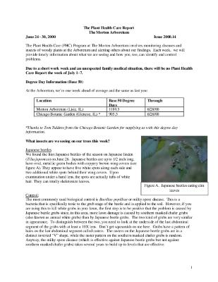 Plant Health Care Report: Issue 2000.14