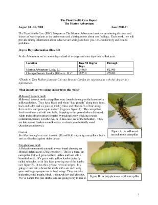 Plant Health Care Report: Issue 2000.21