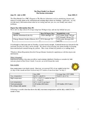 Plant Health Care Report: Issue 2001.13