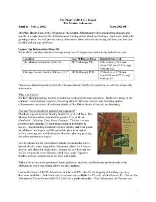 Plant Health Care Report: Issue 2002.05