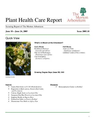 Plant Health Care Report: Issue 2005.09