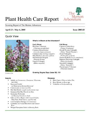 Plant Health Care Report: Issue 2005.03