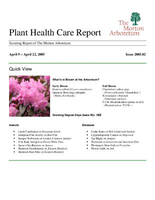 Plant Health Care Report: Issue 2005.02