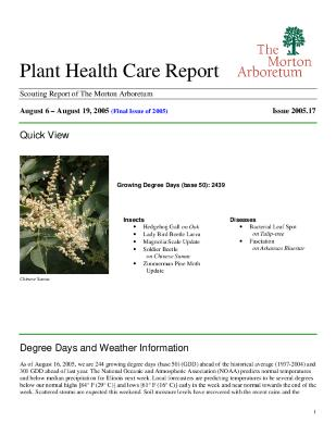 Plant Health Care Report: Issue 2005.17