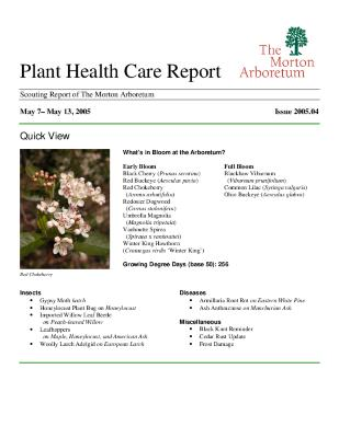 Plant Health Care Report: Issue 2005.04