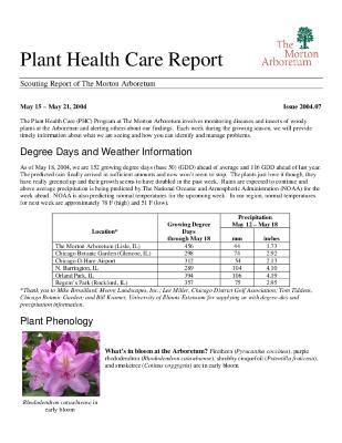 Plant Health Care Report: Issue 2004.07