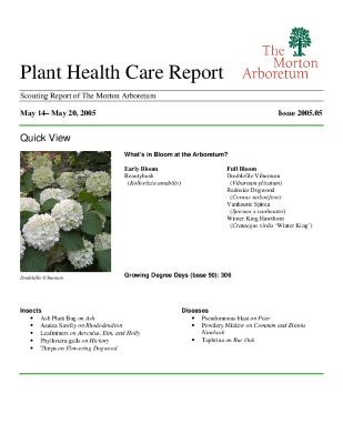 Plant Health Care Report: Issue 2005.05