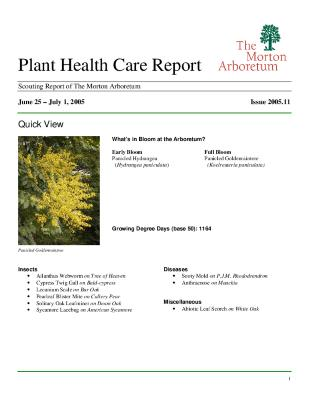 Plant Health Care Report: Issue 2005.11