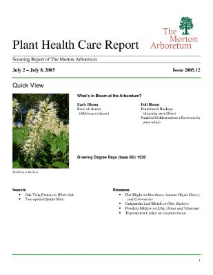 Plant Health Care Report: Issue 2005.12