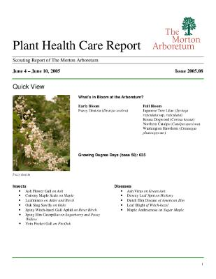 Plant Health Care Report: Issue 2005.08