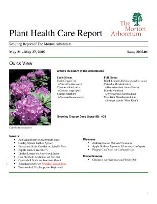 Plant Health Care Report: Issue 2005.06