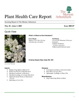 Plant Health Care Report: Issue 2005.07