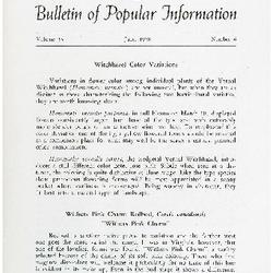 Bulletin of Popular Information V. 36 Index