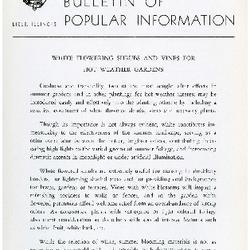 Bulletin of Popular Information V. 33 Index