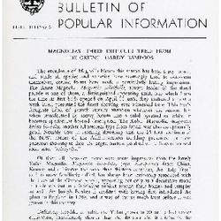 Bulletin of Popular Information V. 32 No. 10