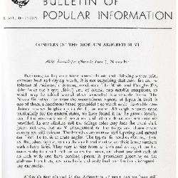 Bulletin of Popular Information V. 34 No. 05