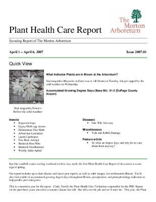 Plant Health Care Report: Issue 2007.01