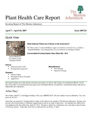 Plant Health Care Report: Issue 2007.02