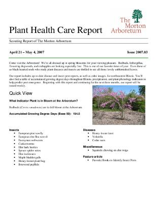 Plant Health Care Report: Issue 2007.03
