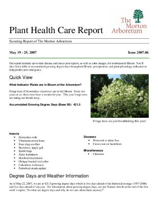 Plant Health Care Report: Issue 2007.06