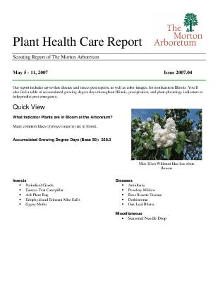Plant Health Care Report: Issue 2007.04