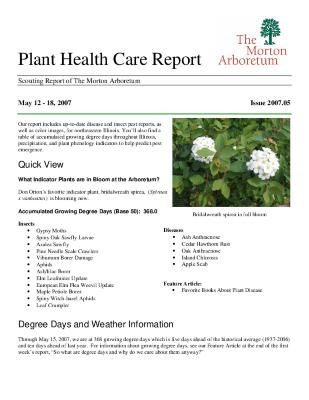 Plant Health Care Report: Issue 2007.05