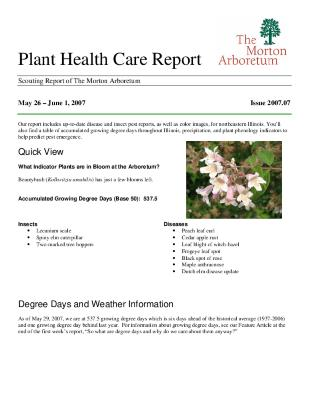 Plant Health Care Report: Issue 2007.07