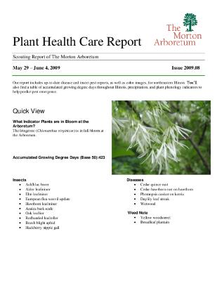 Plant Health Care Report: Issue 2009.08