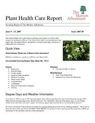 Plant Health Care Report: Issue 2007.09
