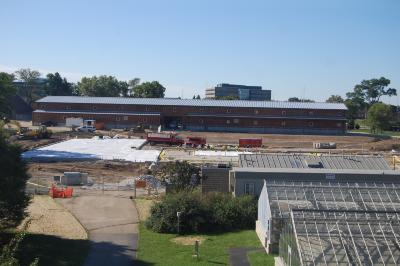 South Farm Curatorial and Operations Center Construction, View from Herbarium, September 2016