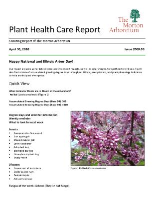 Plant Health Care Report: Issue 2010.03
